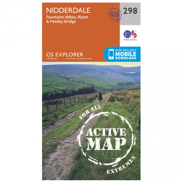 Ordnance Survey - Nidderdale Waterproof - Hiking map