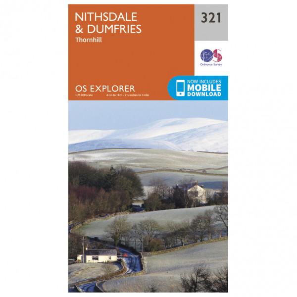 Ordnance Survey - Nithsdale / Dumfries EXP321 - Wanderkarte