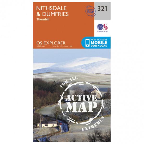 Ordnance Survey - Nithsdale / Dumfries Waterproof - Vandrekort