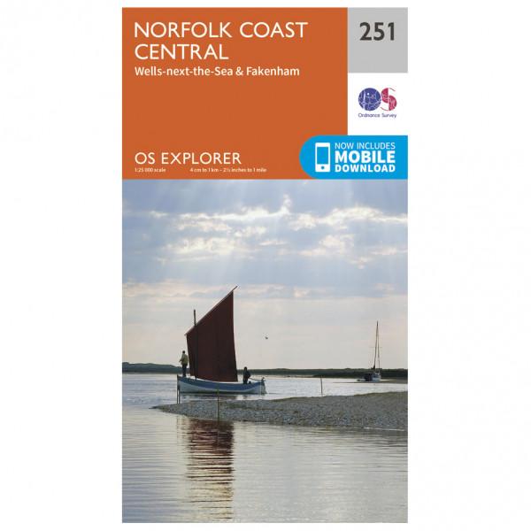 Ordnance Survey - Norfolk Coast Central - Wanderkarte