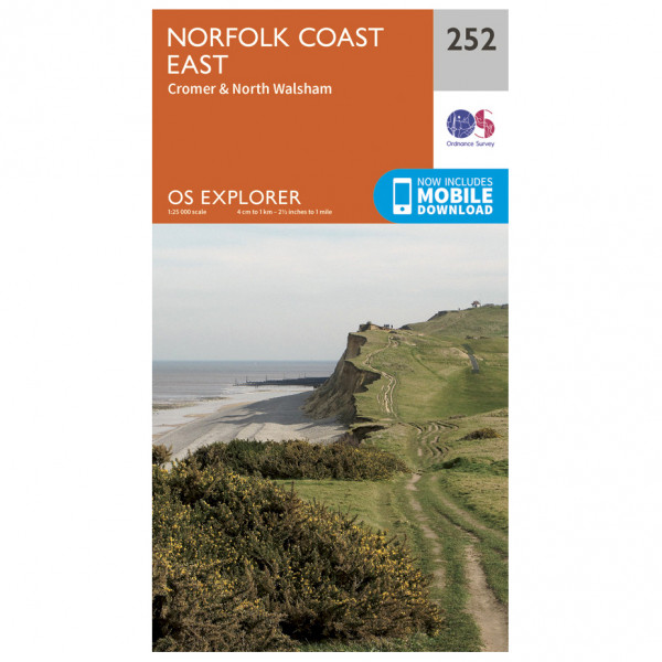 Ordnance Survey - Norfolk Coast East - Carte de randonnée