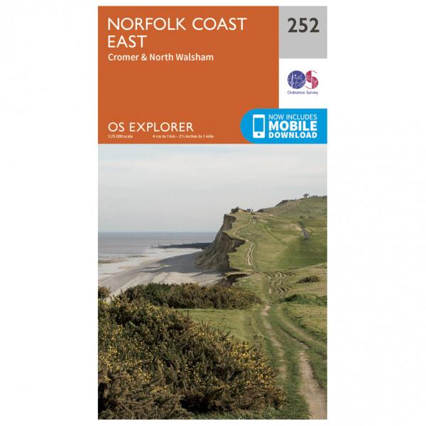 Ordnance Survey - Norfolk Coast East - Mapa de senderos