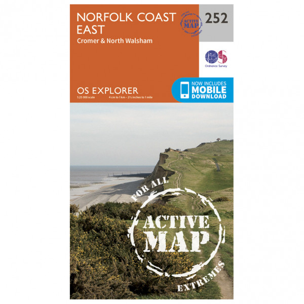 Ordnance Survey - Norfolk Coast East Waterproof - Hiking map