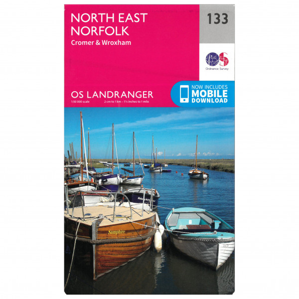 Ordnance Survey - North East Norfolk - Hiking map