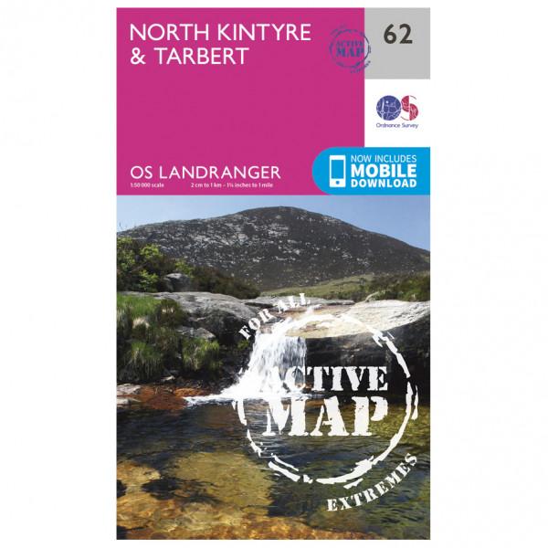Ordnance Survey - North Kintyre / Tarbert Waterproof - Vandringskartor