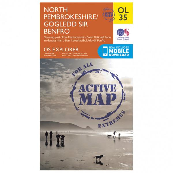 Ordnance Survey - North Pembrokeshire Waterproof - Vandrekort