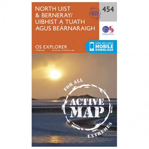 Ordnance Survey - North Uist / Berneray Waterproof - Vandrekort