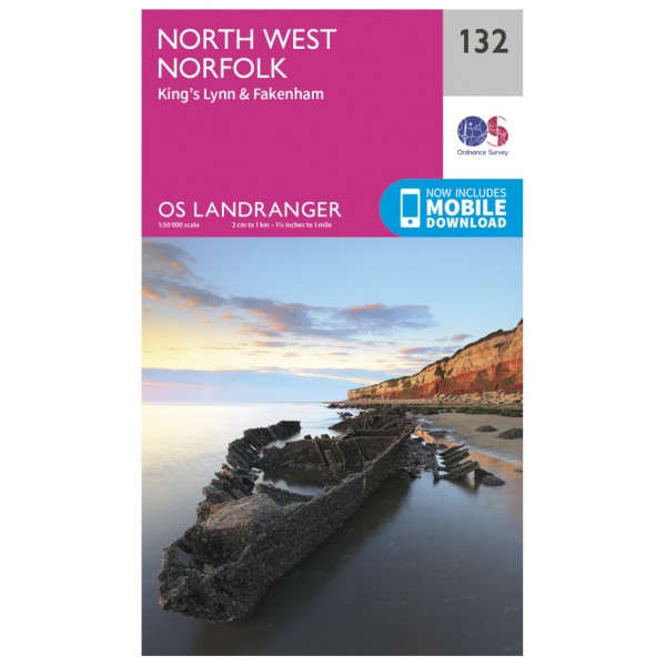 Ordnance Survey - North West Norfolk - Hiking map