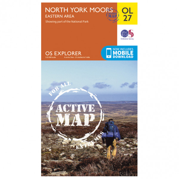 Ordnance Survey - North York Moors / Eastern Area Waterproof - Wandelkaarten