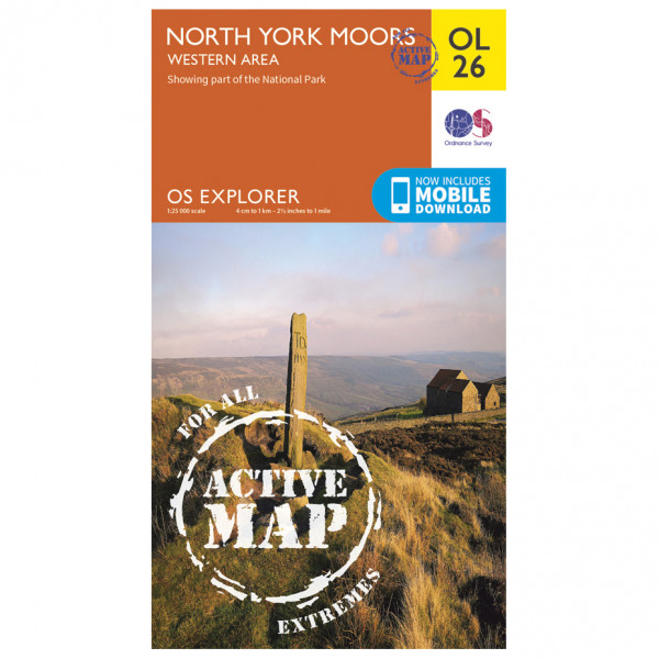 Ordnance Survey - North York Moors / Western Area Waterproof - Hiking map