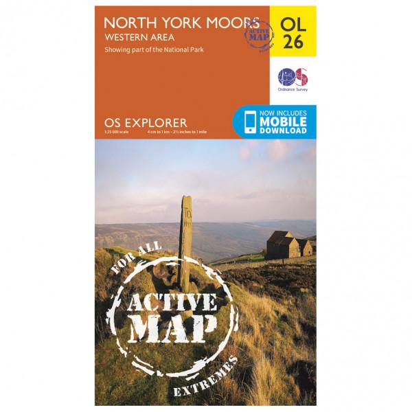 Ordnance Survey - North York Moors / Western Area Waterproof - Vandringskartor