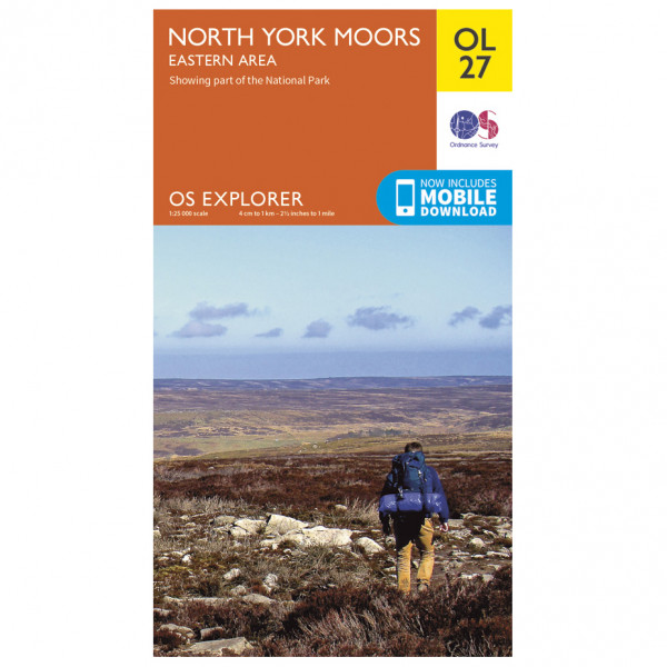 Ordnance Survey - North York Moors Eastern Area Outdoor - Hiking map