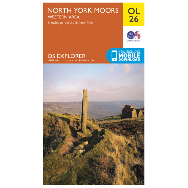 Ordnance Survey - North York Moors Western Area Outdoor - Hiking map