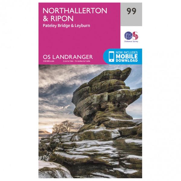 Ordnance Survey - Northallerton / Ripon - Mapa de senderos