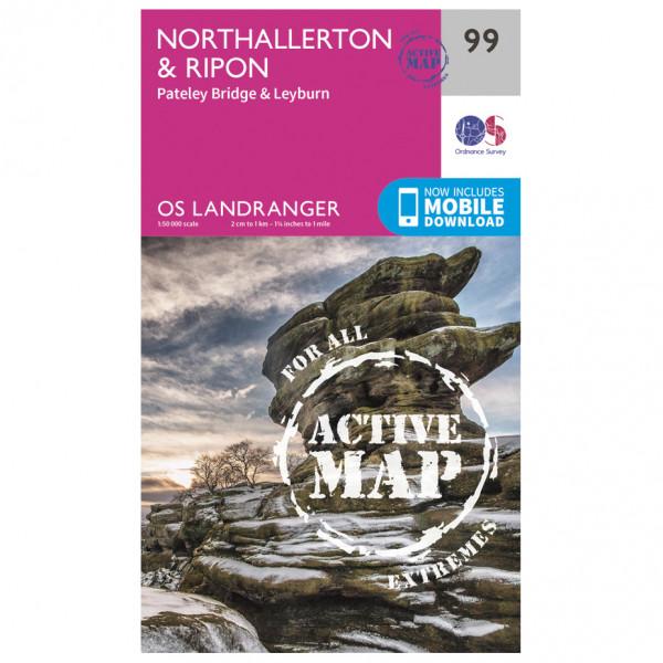 Ordnance Survey - Northallerton / Ripon Waterproof - Vandringskartor