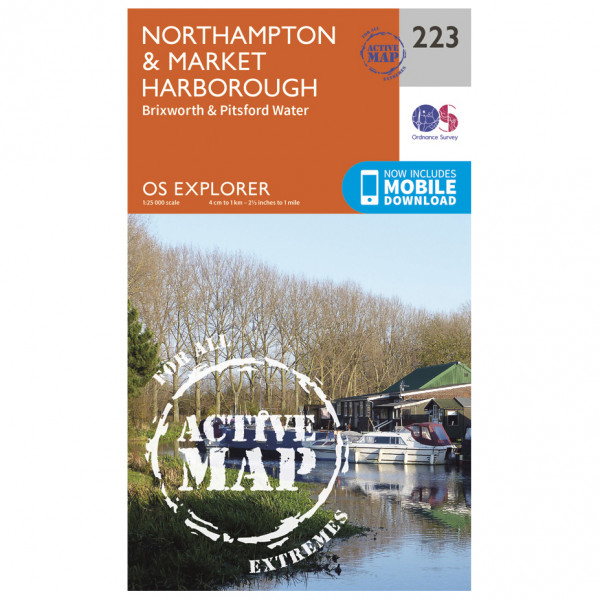 Ordnance Survey - Northampton / Market Harborough Waterproof - Hiking map