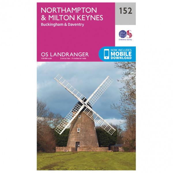Ordnance Survey - Northampton / Milton Keynes - Vandringskartor