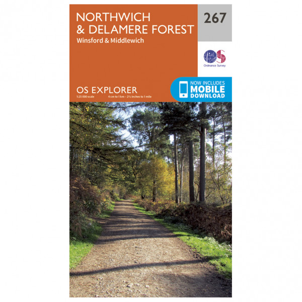 Ordnance Survey - Northwich / Delamere Forest EXP267 - Wanderkarte