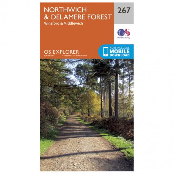 Ordnance Survey - Northwich / Delamere Forest - Vandrekort
