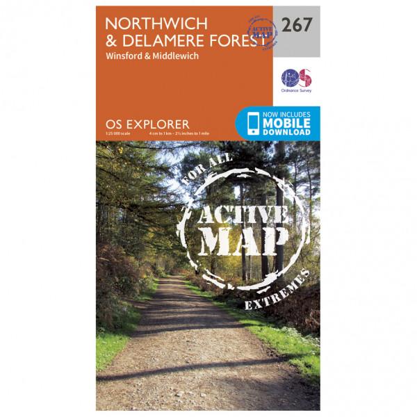 Ordnance Survey - Northwich / Delamere Forest Waterproof - Wandelkaarten