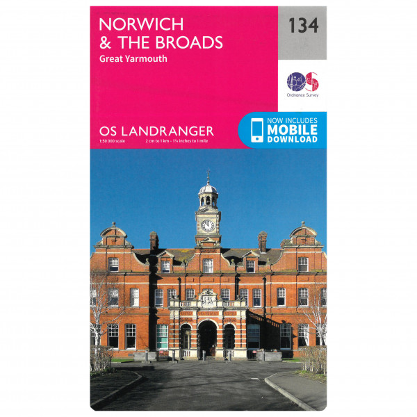 Ordnance Survey - Norwich / The Broads - Hiking map