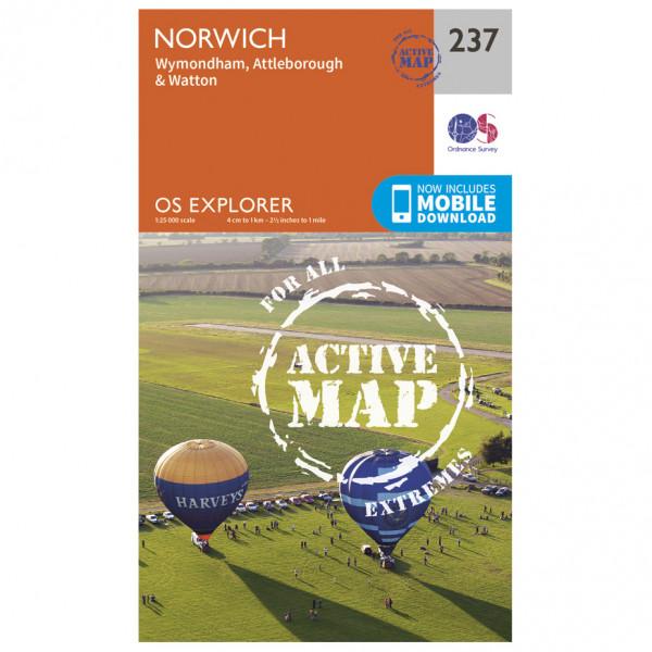 Ordnance Survey - Norwich Waterproof - Hiking map