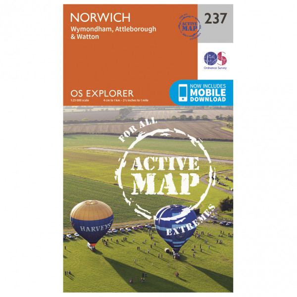 Ordnance Survey - Norwich Waterproof - Vandringskartor