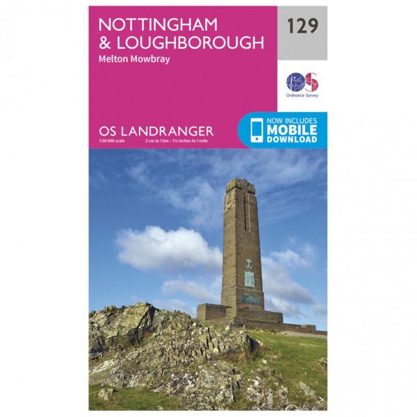 Ordnance Survey - Nottingham / Loughborough L129 - Wanderkarte