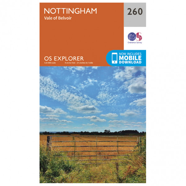 Ordnance Survey - Nottingham / Vale Of Belvoir EXP260 - Wanderkarte