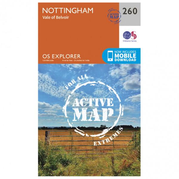 Ordnance Survey - Nottingham / Vale Of Belvoir Waterproof - Vandrekort