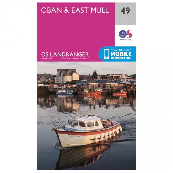 Ordnance Survey - Oban / East Mull - Mapa de senderos