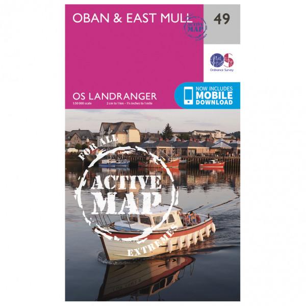 Ordnance Survey - Oban / East Mull Waterproof - Vandrekort