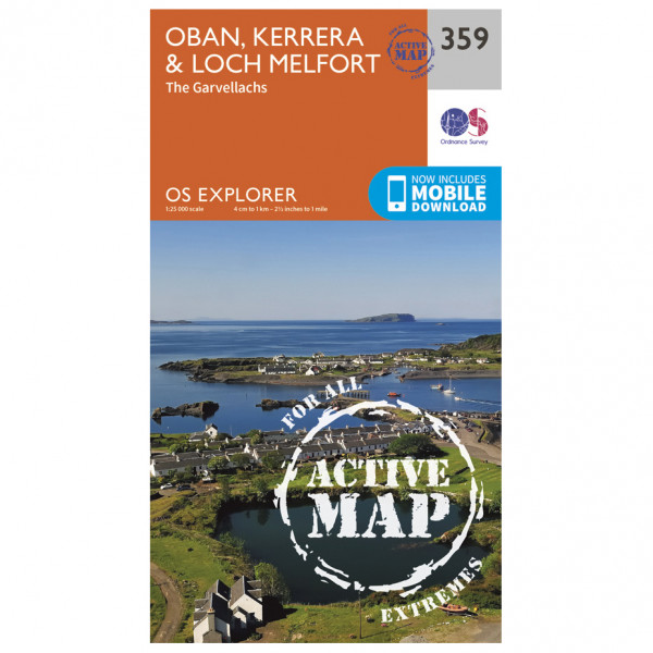 Ordnance Survey - Oban / Kerrera / Loch Melfort Waterproof - Hiking map