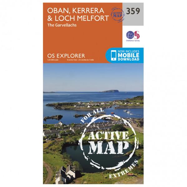 Ordnance Survey - Oban / Kerrera / Loch Melfort Waterproof - Vaelluskartat