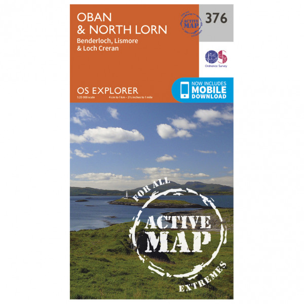 Ordnance Survey - Oban / North Lorn Waterproof - Hiking map
