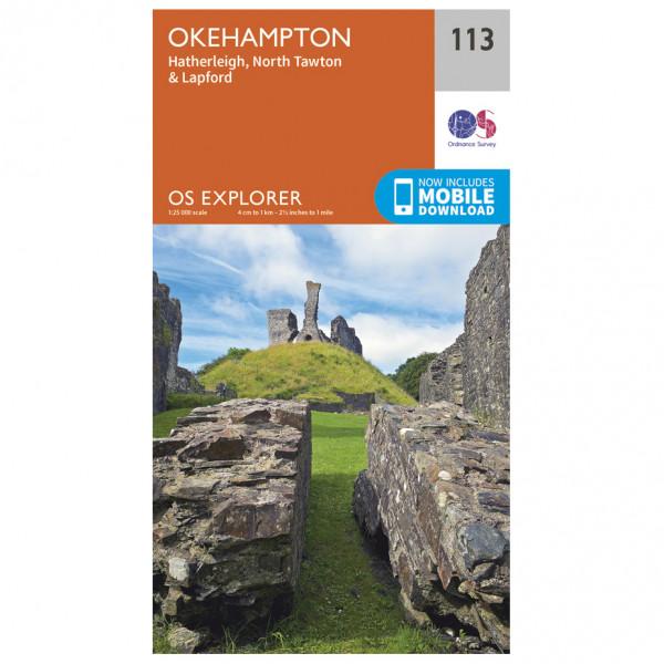 Ordnance Survey - Okehampton - Vandrekort