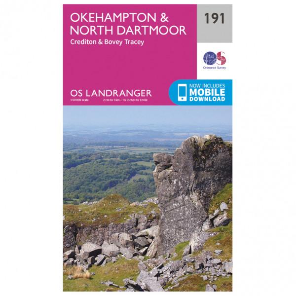 Ordnance Survey - Okehampton / North Dartmoor - Wandelkaart