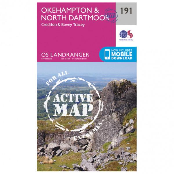 Ordnance Survey - Okehampton / North Dartmoor Waterproof - Vandrekort