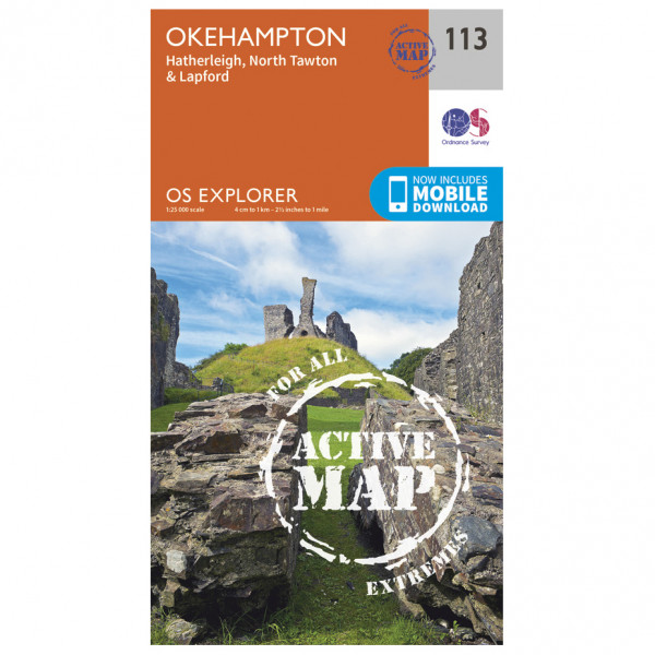 Ordnance Survey - Okehampton Waterproof - Hiking map