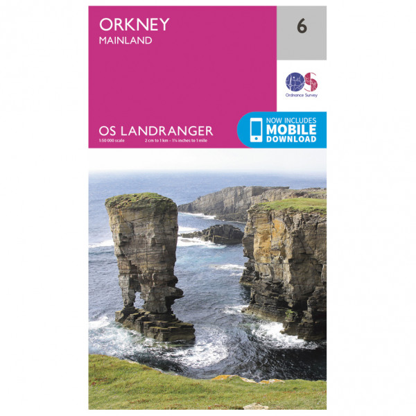 Ordnance Survey - Orkney - Mainland - Vandrekort