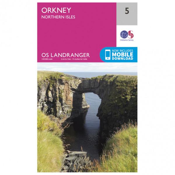 Ordnance Survey - Orkney - Northern Isles L005 - Wanderkarte