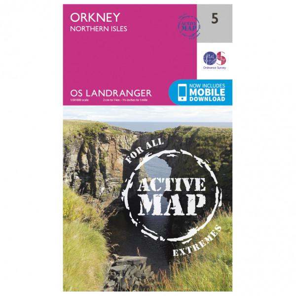 Ordnance Survey - Orkney - Northern Isles Waterproof - Vaelluskartat