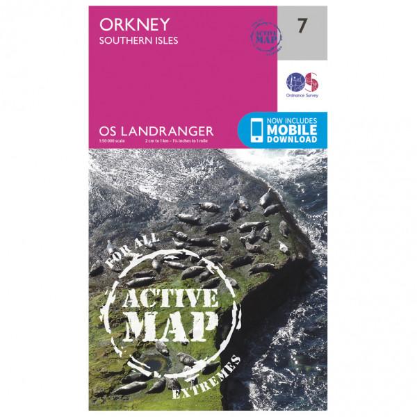 Ordnance Survey - Orkney - Southern Isles Waterproof - Vandrekort