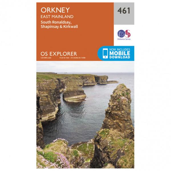 Ordnance Survey - Orkney / East Mainland EXP461 - Wanderkarte