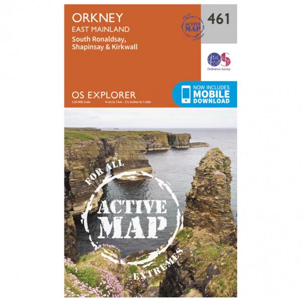 Ordnance Survey - Orkney / East Mainland Waterproof - Hiking map
