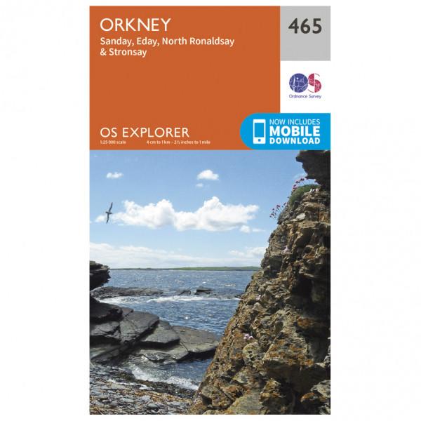 Ordnance Survey - Orkney / Sanday / Eday / North Ronaldsay /Stronsay - Vandringskartor