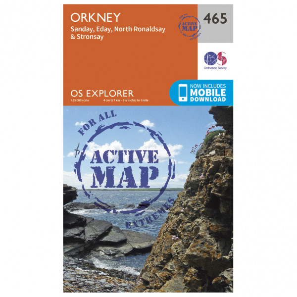 Ordnance Survey - Orkney / Sanday / Eday Waterproof - Vandrekort