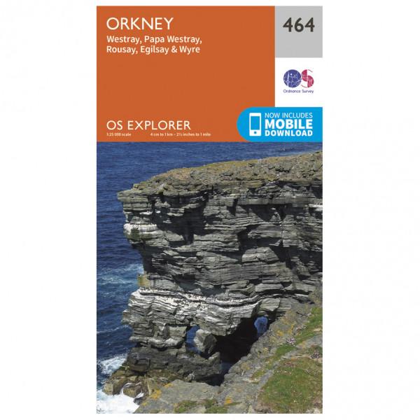 Ordnance Survey - Orkney/ Westray / Wyre EXP464 - Wanderkarte
