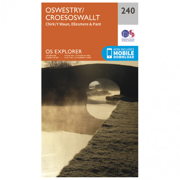 Ordnance Survey - Oswestry / Croesoswallt - Vandrekort