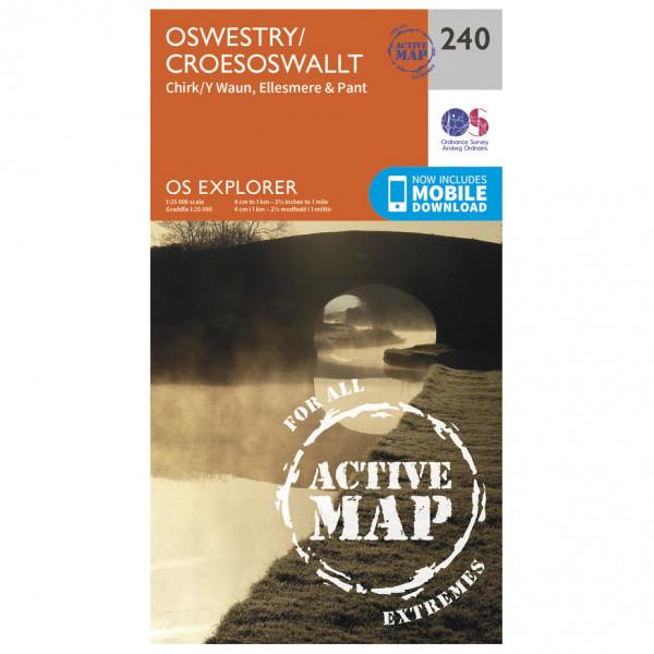 Ordnance Survey - Oswestry / Croesoswallt Waterproof - Vandringskartor